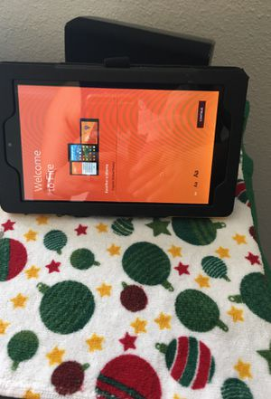 Yellow Amazon Fire 7 Tablet w/Case and charger cable for Sale in Valrico, FL