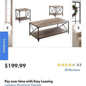 Coffee Table & Side Tables for Sale in Shirley, NY