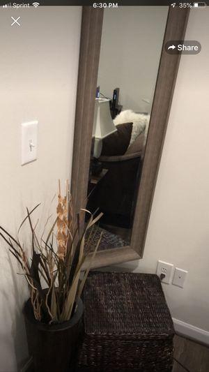 Mirror, Storage Basket, Decorative Foliage Set for Sale in Ashburn, VA