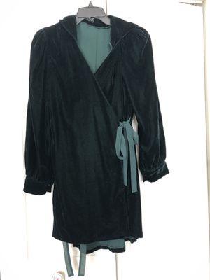 Zara dark green velvet dress size S for Sale in Rockville, MD