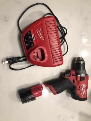 """Milwaukee M12 Fuel 1/2"""" Hammer Drill w/ battery & Charger for Sale in Hurst, TX"""