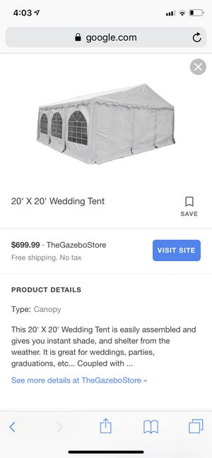 Wedding tents for Sale in Phoenix, AZ