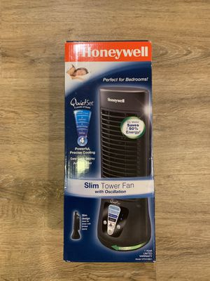 Honeywell slim tower fan with cooling feature brand new for Sale in Ladera Ranch, CA