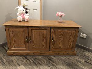 Oak Laminate Storage Cabinet / TV stand for Sale in Lemont, IL