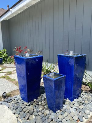 3 piece vase fountains for Sale in San Juan Capistrano, CA