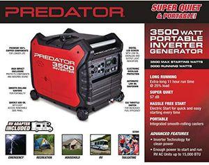 Predator 3500 Super Quiet Inverter Generator, Red for Sale in Seattle, WA