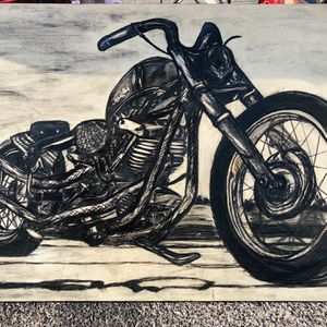 Harley Shovelhead Engine Hand Drawn Wood Sign Large for Sale in Springfield, TN