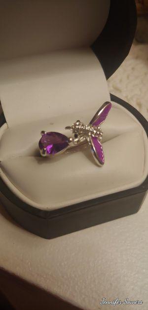 Silver Purple Amethyst Bird Ring for Sale in Amarillo, TX
