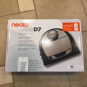 Neato Robotics D7 Connected Black Auto Charging Robotic Vacuum for Sale in Lemont, IL