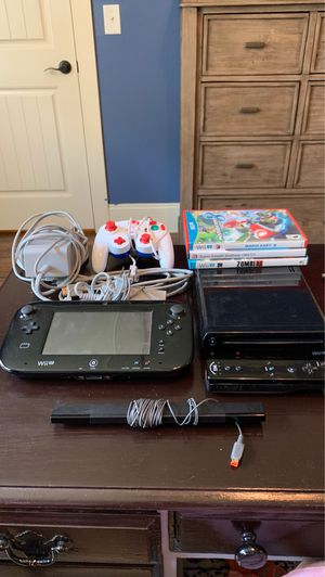 Wii U 32GB with Mario Kart 8 and Super Smash Brothers, accessories for Sale in Charlotte, NC