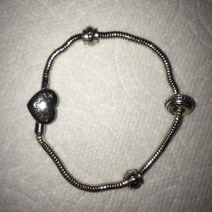 Pandora style sterling snake bracelet for Sale in Scottsdale, AZ