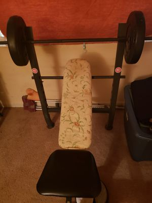 Weight bench with weights for Sale in Atlanta, GA