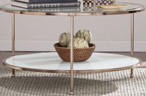 New!! Round Accent Table, Furniture,Glass Coffee Table,Living Room,Coffee Table for Sale in Phoenix, AZ