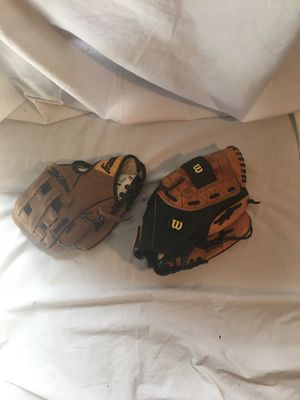 Lot of two baseball gloves for Sale in McDonough, GA