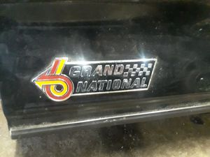 87 Buick grand national trunk lid with spoiler and emblem for Sale in Pawtucket, RI