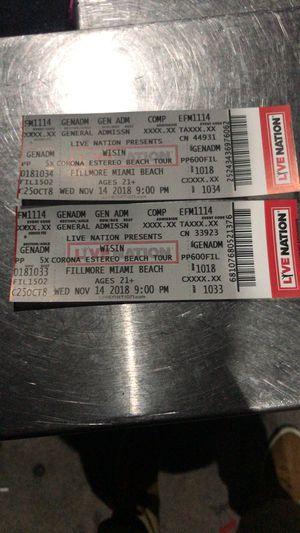 Wisin Concert Tickets 25$ for Sale in Miami, FL