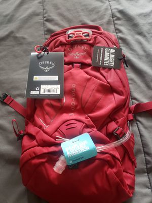Osprey 10 wildfire red hydration backpack for Sale in Corona, CA