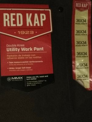 Red kap pants new for Sale in Las Vegas, NV