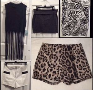 Fringe Top, Bodycon Miniskirt, High Waist Belted Pencil Skirt, High Waisted Shorts for Sale in Murrieta, CA