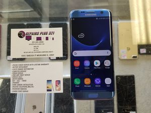 Unlocked Blue Galaxy S7 Edge 32gb for Sale in Melbourne, FL