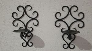 Wrought iron candle wall sconce pair for Sale in Boynton Beach, FL