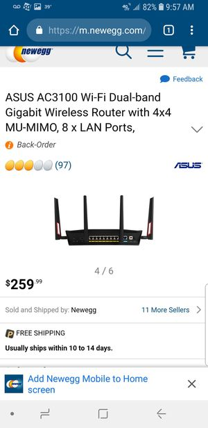 Like New! ASUS Router ! High End ! 8 Lan Port ! No box! for Sale in Des Plaines, IL