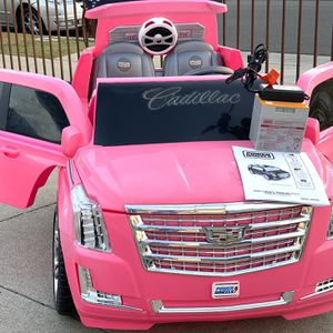 Pink Cadillac Escalade 12volt Electric Kid Ride On Car Power Wheels for Sale in Anaheim, CA