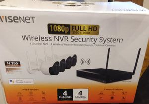 Wisenet wireless security cameras system for Sale in Beaumont, TX