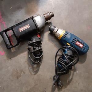 Craftsman Hammer Drill & Ryobi Power Drill for Sale in Wichita, KS