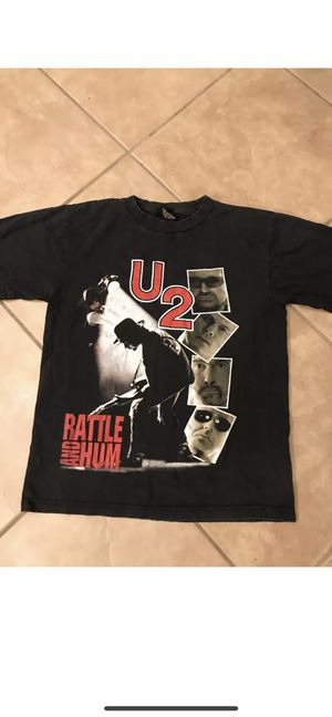 U2 Concert Tee Shirt Rattle and Hum Rare rock Band T size M for Sale for sale  Gilbert, AZ