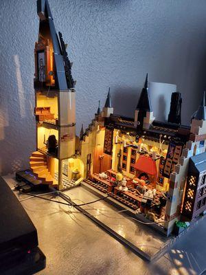 Built Used Harry potter hogwart castle non LEGO with usb LED LIGHTS BUILT for Sale in Land O Lakes, FL