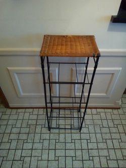 Decorative wicker & black metal shelf(shelves) size 13x10x36 for Sale in Dearborn,  MI