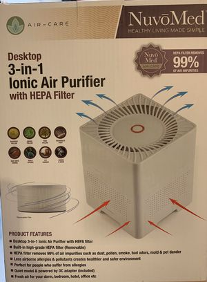 Ionic Air Purifier Hepa Filter Desktop 3-in-1 😷🦠 for Sale in Phoenix, AZ
