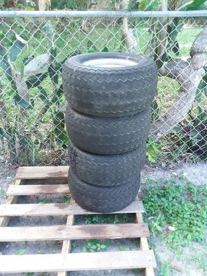 Set of 20 × 10.00 - 10 four lug Golf Cart wheels and tires for Sale in Hollywood, FL