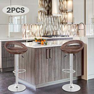 Modern Pub Rattan Swivel Adjustable Height Chair Stylish & Comfortable for Sale in Las Vegas, NV