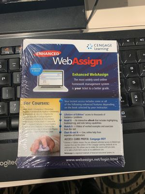 WebAssign Code for Calc 3 or Differential Equations for Sale in Gainesville, FL