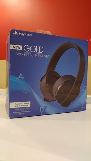 PlayStation Gold Wireless Headset for Sale in Seattle, WA