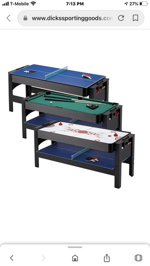 Fat cat 3 in 1 pool table for Sale in Clifton, NJ