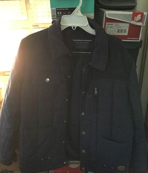 Zara men's blue denim jacket XL European size, Large for sale  US for Sale