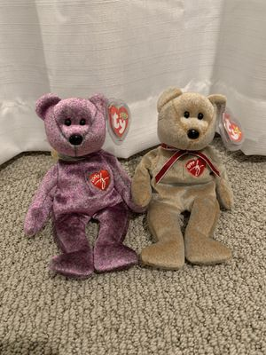 Ty beanie baby Signature bears 1999 and 2000 for Sale in Menifee, CA