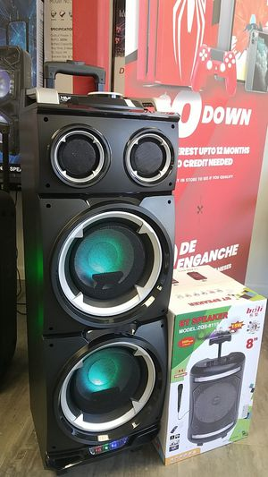 H&A Party Speaker wireless Bluetooth USB aux sd card port, LEDs Light, Digital Display, eXtra baSS sub woofers and much more for Sale in Dallas, TX