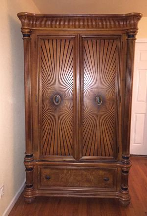 Catalina Honey Armoire solid wood for Sale in Covina, CA