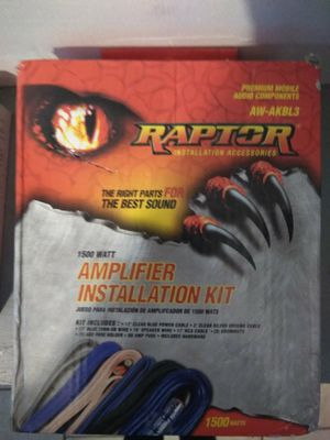 Raptor Amplifier installation kit 1500 watt Right parts for the best sound ... for Sale in Denver, CO