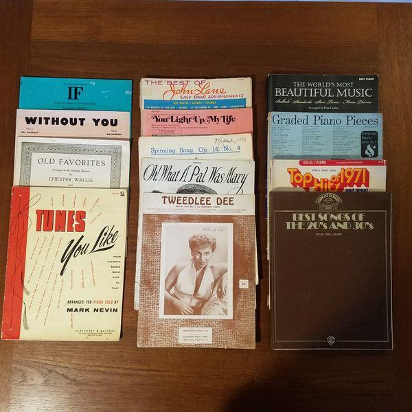 Lot of Vintage 1950s-60s chord organ and piano sheet music