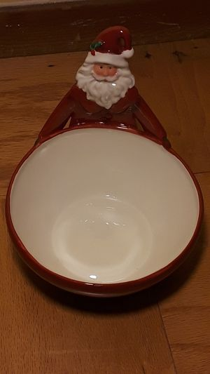 RARE RAE DUNN MAGENTA SANTA CANDY DISH BOWL for Sale in Brea, CA