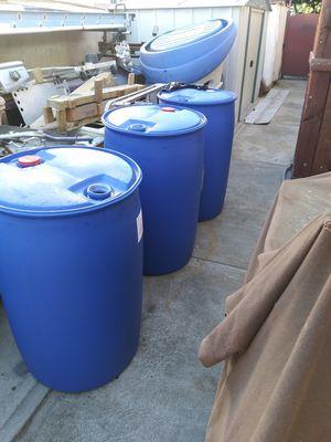 Plastic drums 55 gallon capacity for Sale in Norwalk, CA