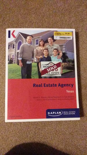 an. Texas Real Estate Agency book, 2014 edition for Sale in DeSoto, TX