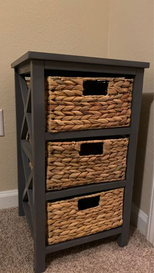 Nightstand With Wicker Drawers for Sale in Manor, TX
