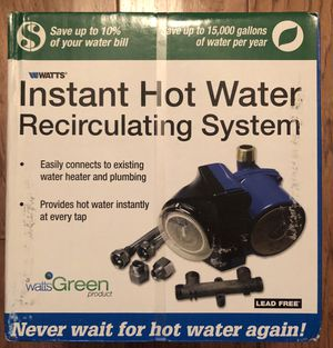 Watts Instant Hot Water Recirculating System. for Sale in Los Angeles, CA