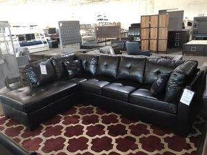 Black Leather Sectional Sofa ‼️Black Friday Sale‼️ for Sale in Dallas, TX